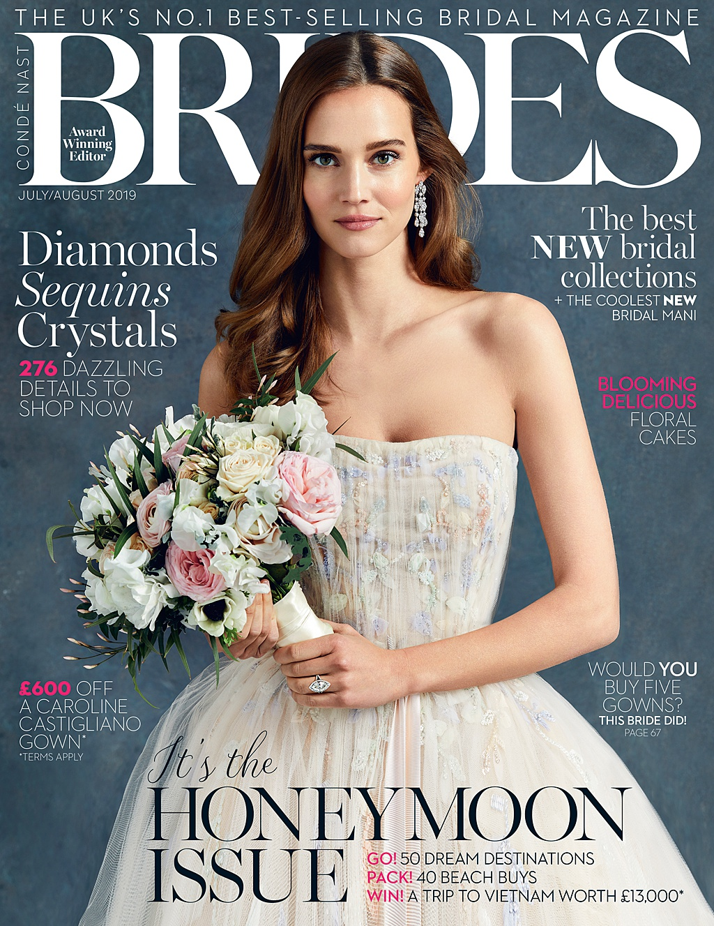 brides magazine Holly Clark photography sezincote wedding