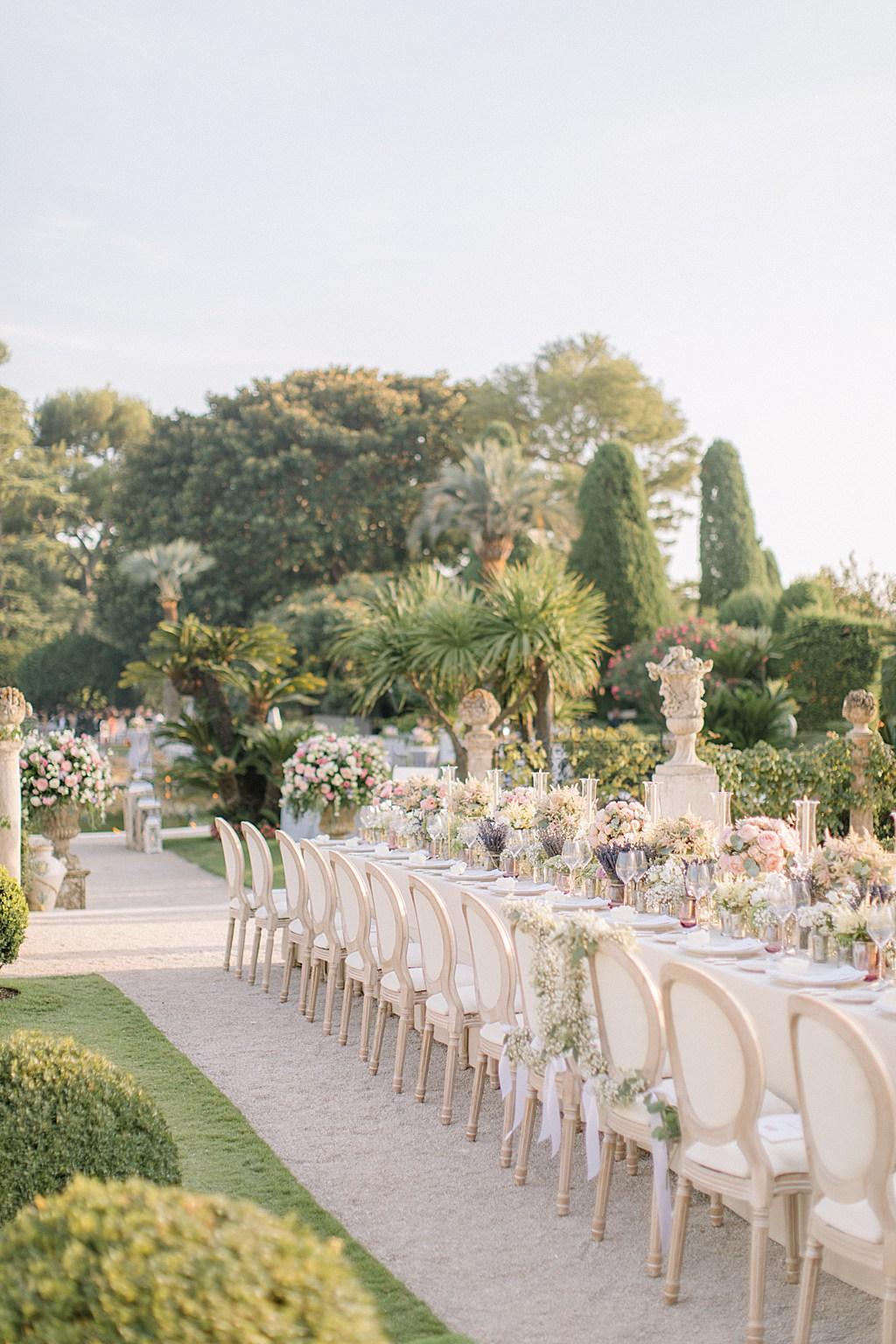 Villa Ephrussi de Rothschild Wedding Breakfast