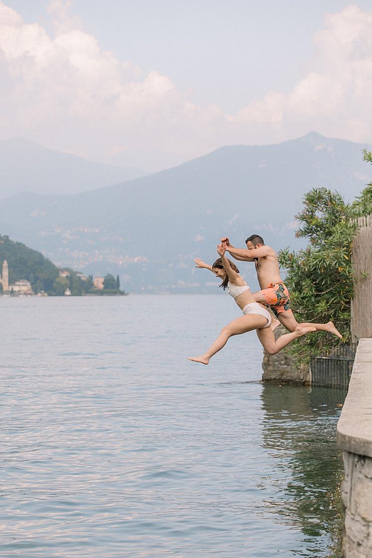 Lido de Lenno - Jumping into Lake Como
